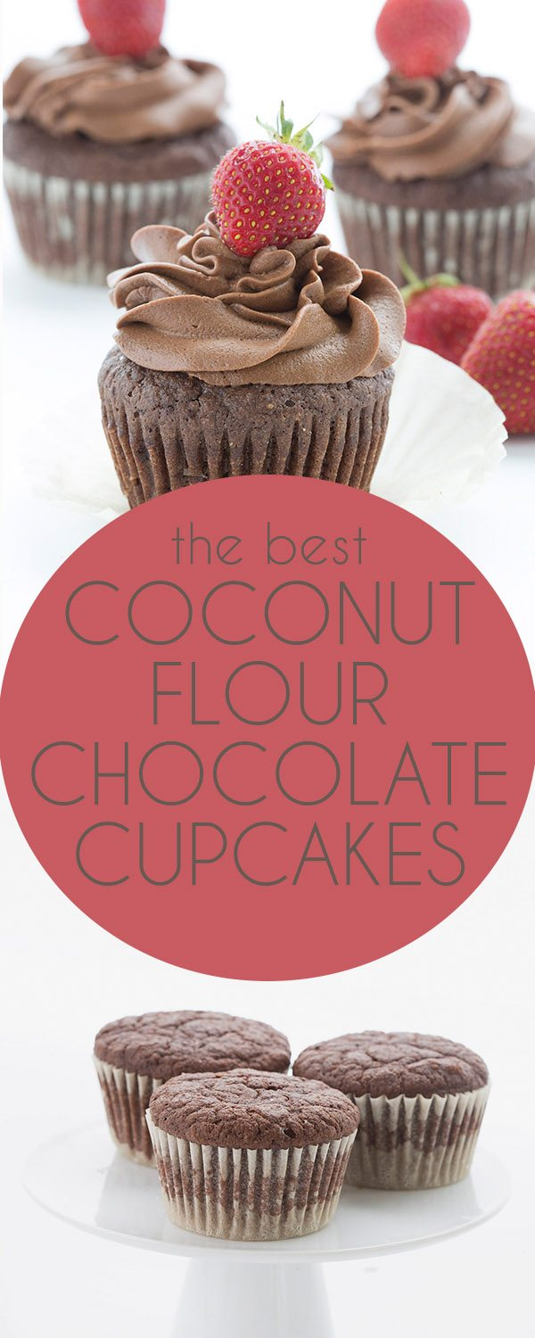 These tender coconut flour chocolate cupcakes are a keto favorite the whole family will love. Sugar-free THM Banting recipe.
