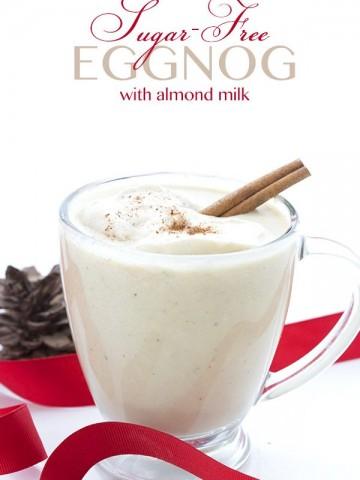 Low Carb Keto Eggnog Recipe. Can be made dairy-free!