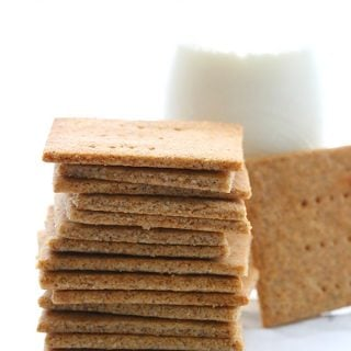 titled image (and shown) Make Your Own Healthy Graham Crackers (a stack of sugar-free graham crackers)