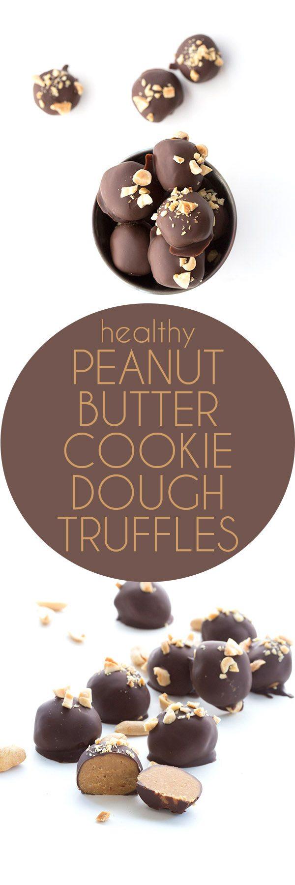 Healthy Low Carb Peanut Butter Cookie Dough Truffles - Keto THM Banting grain-free recipe
