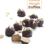 Seriously delicious! Low Carb Keto Peanut Butter Cookie Dough Truffles.