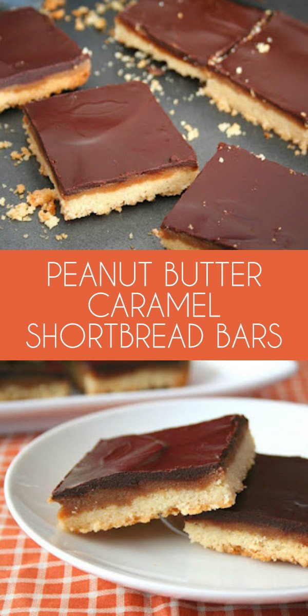 Low carb Peanut Butter Caramel Shortbread Bars - grain-free THM LCHF Keto Recipe