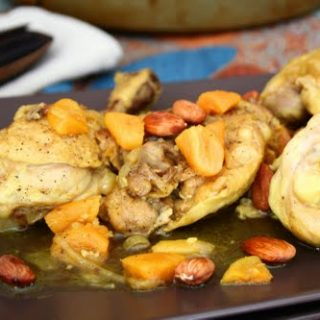 Chicken Tagine with Apricots and Almonds (Secret Recipe Club)