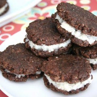 Coconut Cream Sandwich Cookies (Low Carb and Gluten Free)
