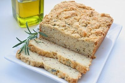 Rosemary Olive Oil Quick Bread (Low Carb) | All Day I Dream About Food