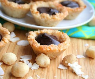 Chocolate Macadamia Coconut Tarts (Low Carb and Gluten-Free)