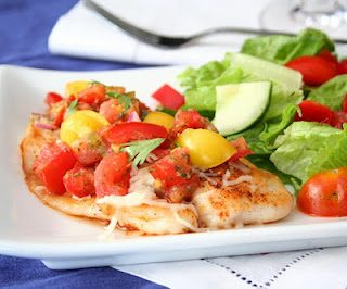 Chipotle Seared Tilapia with Homemade Pico De Gallo (Low Carb and Gluten Free)