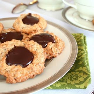Coconut Pecan Macaroons with Chocolate Ganache Centers (Low Carb and Gluten Free)
