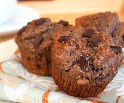 Low Carb Chocolate Chocolate Chip Muffins