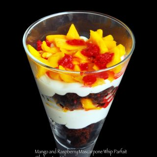 Mango and Raspberry Mascarpone Whip Parfait (Guest Post)