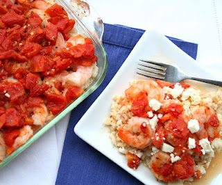 Greek Shrimp with Feta, Tomatoes and White Wine (Low Carb and Gluten-Free)