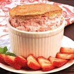Strawberry Souffles with Fresh Berries