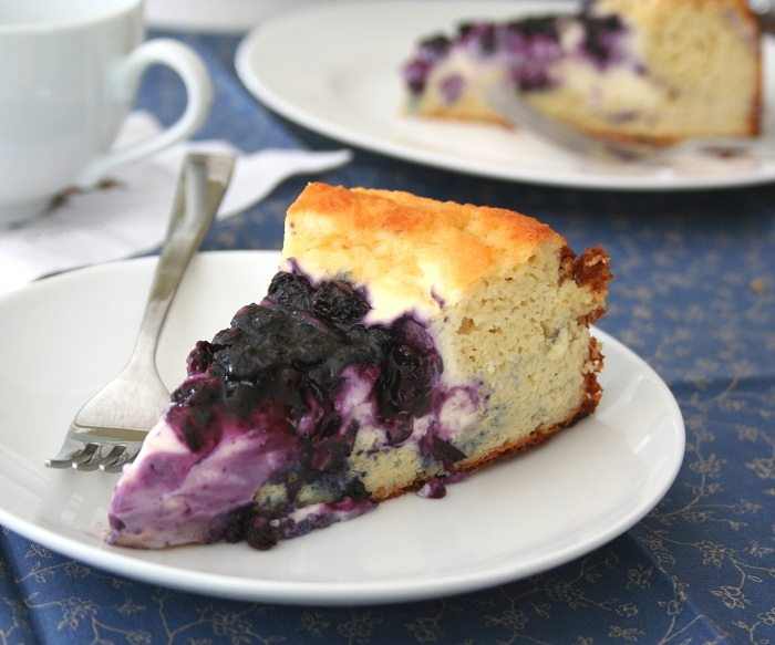 Low Carb Nut Cake Recipes: Blueberry Cream Cheese Coffeecake Recipe