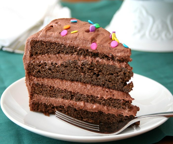 Rich Chocolate Cake With Chocolate Protein Frosting Recipes ...
