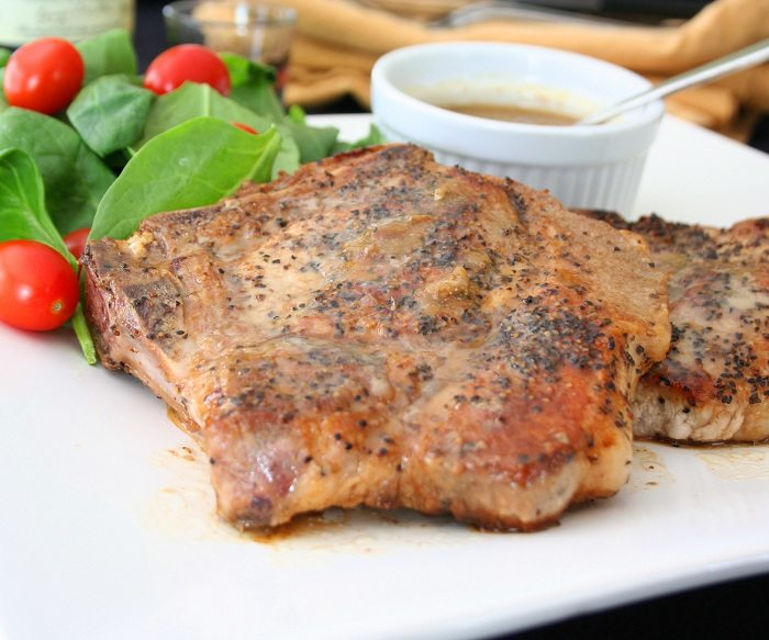 Pork Chops with Whiskey Cream Sauce Recipe | All Day I Dream About ...