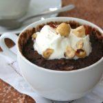 Low Carb Chocolate Hazelnut Mug Cake