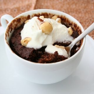 Chocolate Hazelnut Mug Cake – Low Carb and Gluten-Free