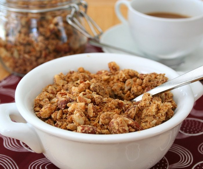 Low Carb, Gluten Free Granola