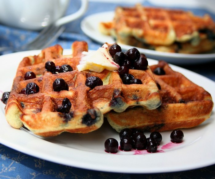 Berry Coconut Waffle