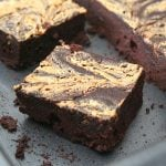 Peanut Butter Swirl Brownies 3 @dreamaboutfood