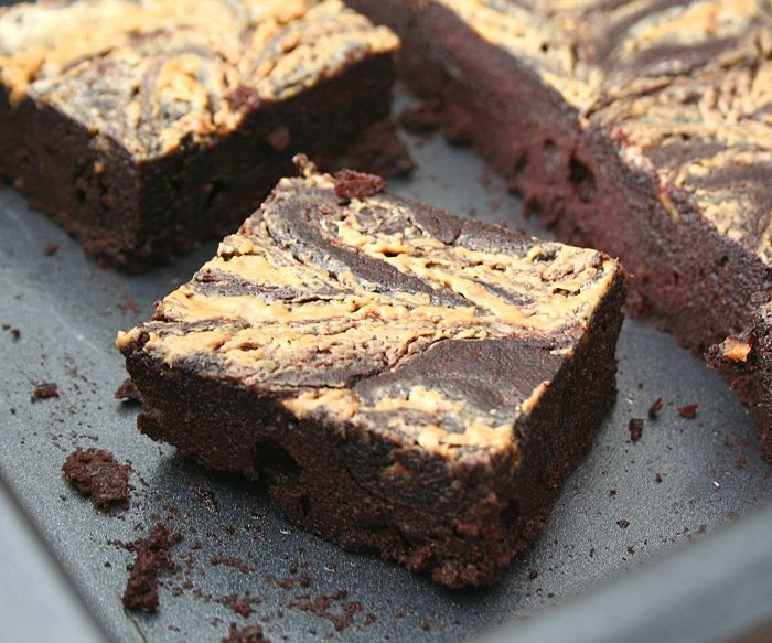 Peanut Butter Swirl Brownies 3 @dreamaboutfood