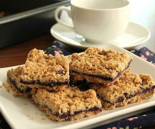 Blueberry Breakfast Bars @dreamaboutfood