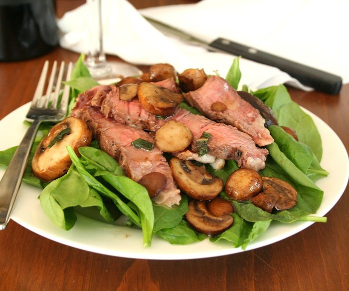 Steak Salad with Browned Butter