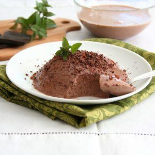 low carb chocolate panna cotta