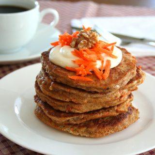 Low Carb Carrot Cake Pancakes