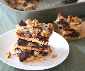 Magic Cookie Bars with Homemade Sweetened Condensed Milk