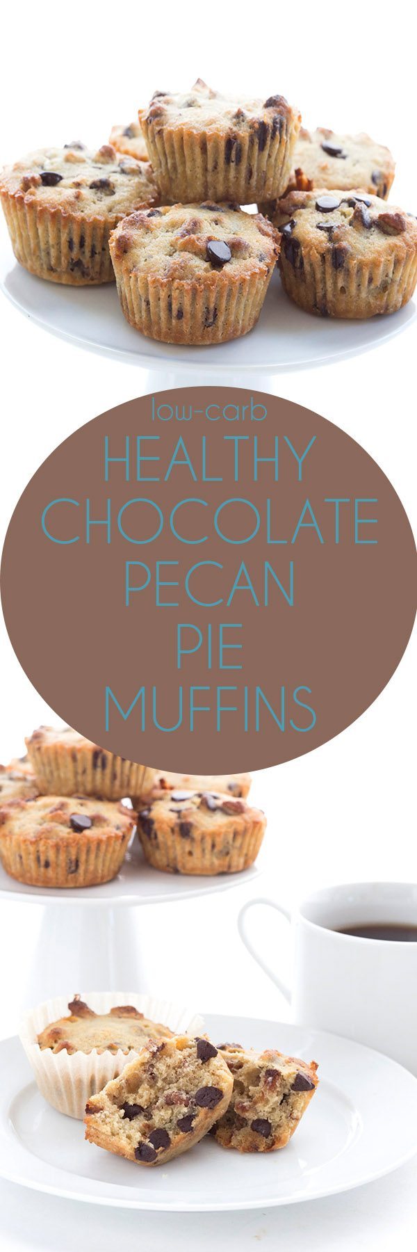 Low Carb Chocolate Pecan Pie Muffin Recipe. Keto THM LCHF Banting