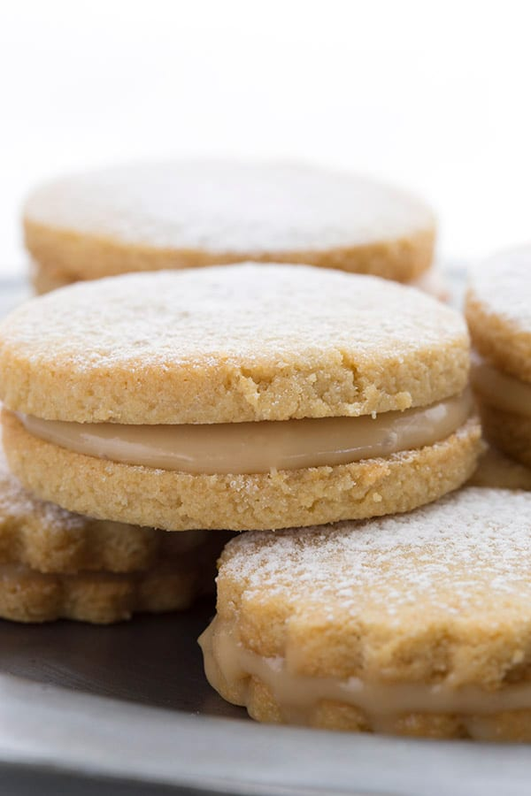 Low Carb Alfajores in a stack