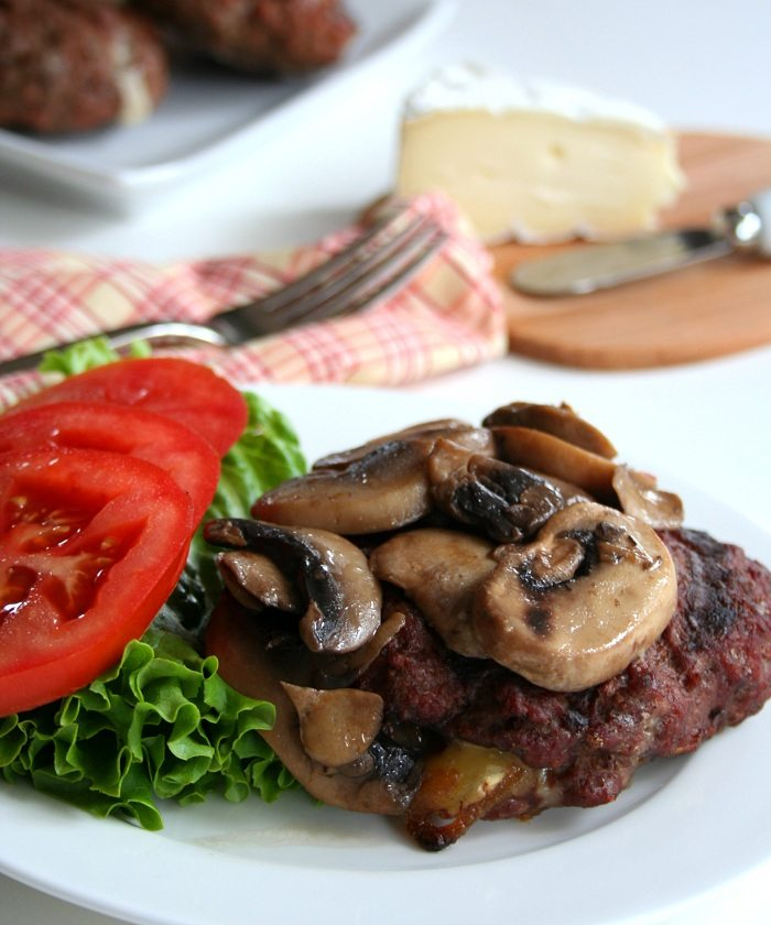 Stuffed Burgers with Brie Recipe