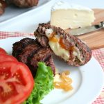 Stuffed Burgers with Brie, Caramelized Onions and Mushrooms