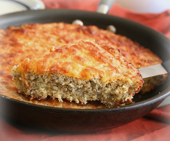 Low Carb Cheesy Skillet Bread