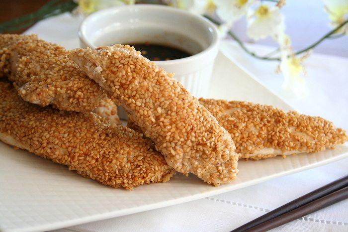 Sesame Crusted Chicken Tenders