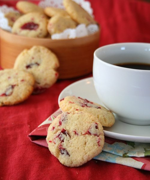 Low Carb Cranberry Ginger Butter Cookies