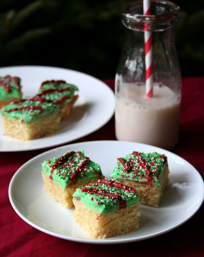 Holiday Sugar Cookie Bars