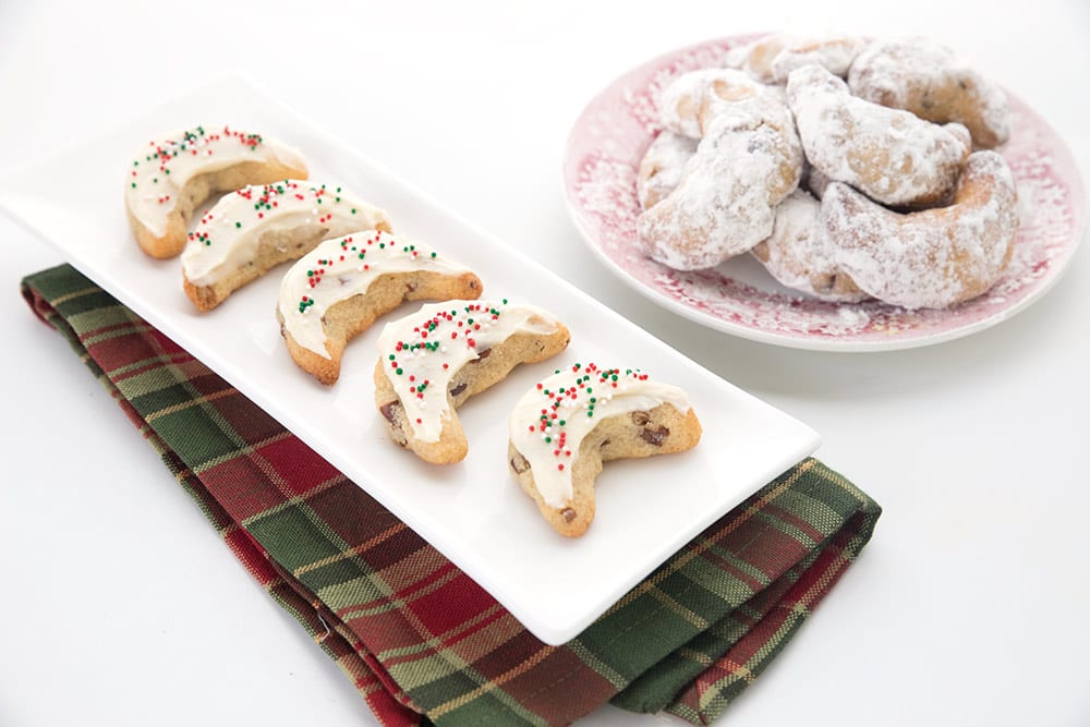 Low carb pecan crescent cookies for the holidays
