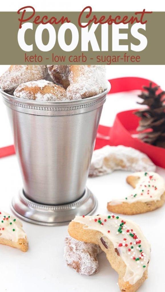 Keto Pecan Crescent Cookies