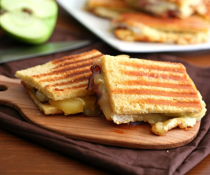 Brie Ham and Green Apple Panini 4 Low Carb Panini Recipe | All Day I ...