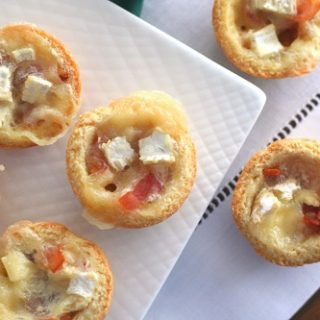 Low Carb Brie and Bacon Tarts