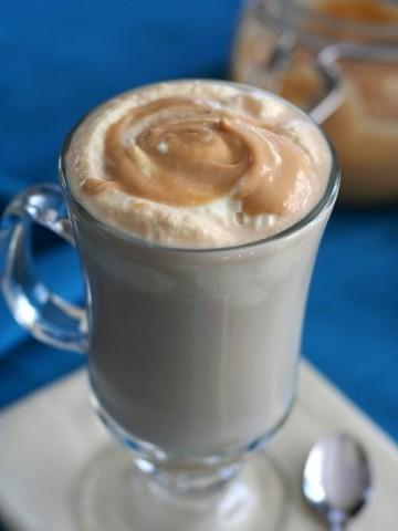 Low Carb Salted Caramel Latte