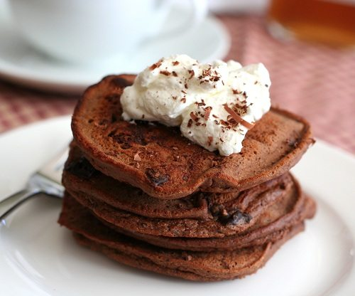 Coconut Flour Chocolate Pancakes