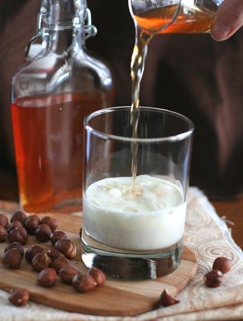 Homemade Hazelnut Liqueur Sugar Free