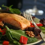 Maple Glazed Salmon Salad from All Day I Dream About Food