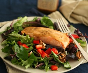 Maple Glazed Salmon Salad Recipe