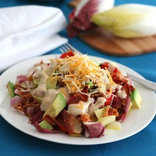 Endive Avocado and Bacon Salad with Chipotle Ranch