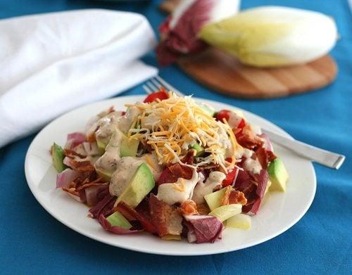 Endive Avocado and Bacon Salad with Chipotle Ranch
