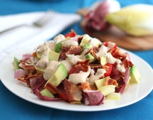 Endive Avocado Bacon Salad with Chipotle Ranch Dressing
